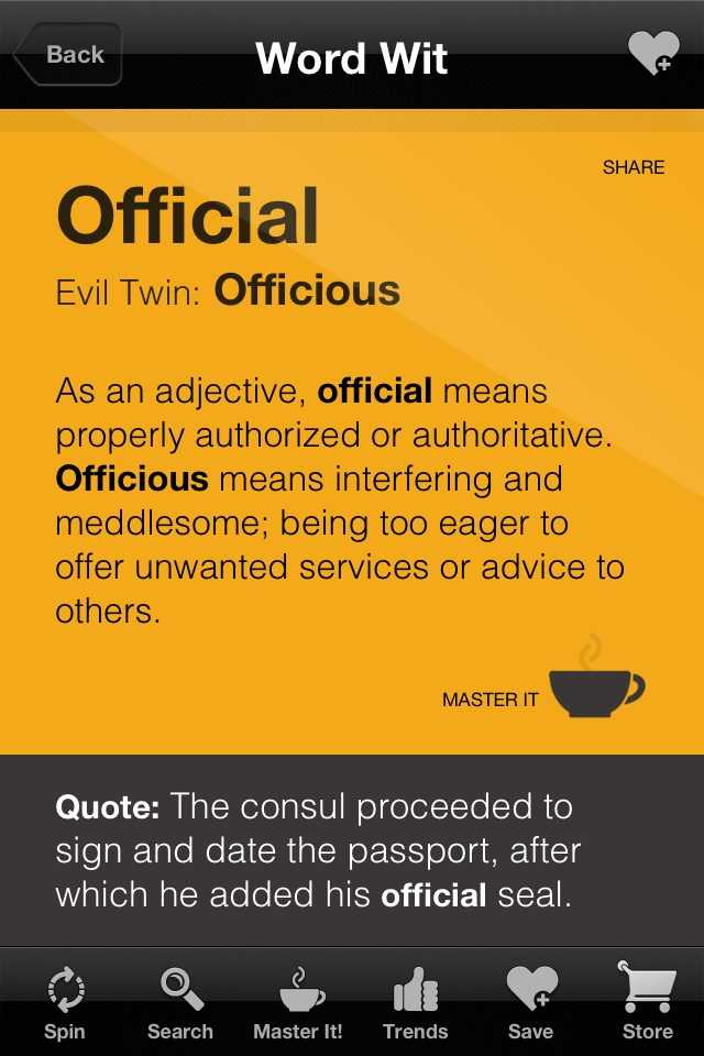 officious - Phocabulary word - Photo Word of the Day to ...